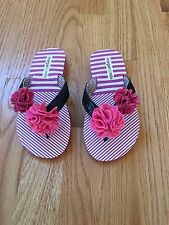 Flip Flops Size 10 and 11  Morgan and Milo Girls Shimmer  New