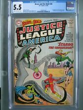 Brave and the Bold #28 CGC 5.5 1960 1st app Justice League of America & Starro