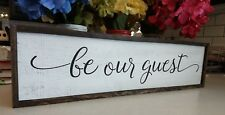 FARMHOUSE wood sign BE OUR GUEST kitchen welcome laundry large wooden country