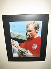 Bobby Moore {West Ham - England Captain} Signed Photograph Repro (8x10) Framed