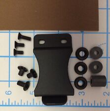 """Do It Yourself DIY IWB Holster Kit 1.5"""" Belt Clip .080 12x8 Coyote Brown Kydex"""