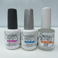 Harmony Gelish Soak off Gel Colors Set of BASE COAT /TOP COAT /PH BOND 0.5 oz