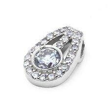 Fine Quality Cubic Zirconia Slide .925 Sterling Silver Pendant