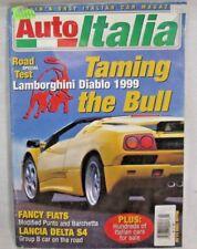 "Auto Italia Magazine Mar 1999 ""Taming the Bull"" Lamborghini Diablo 1999"