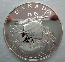 2001 CANADA 50th ANNIVERSARY NATIONAL BALLET PROOF SILVER DOLLAR