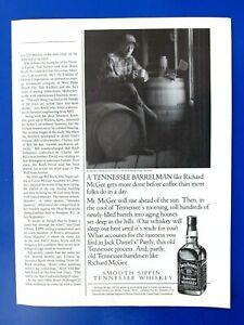 "1990 Jack Daniel's Richard McGee Barrel Man 1/2 Page Original Print Ad-8.5 x 11"""