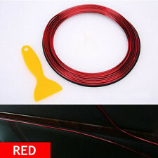 5M Line Car Van Interior Decor Point Edge Gap Door Panel Accessories Cover Red