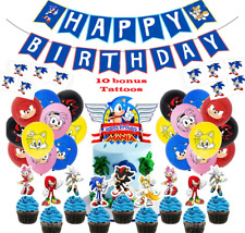 Sonic the Hedgehog Birthday Party Decorations Balloons Supplies. USA SELLER! Inc