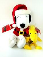 Snoopy and Woodstock Hallmark Peanuts Collection Plush Vintage Christmas w/ Tags