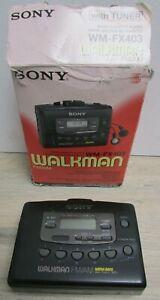 Sony Walkman FM/AM WM-FX403 Radio Cassette Player with Tuner in Box Working