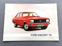 1979 Ford Escort 20-page Dutch Original Sales Brochure Catalog - Ghia Sport RS