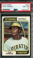 1974 Topps #252 Dave Parker Rookie! PSA 8 NM-MT
