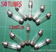 5X Pcs Thai Amulet Takrud Takrut Tube Casing Case Frame Wholesale 1.3X8 cm C013