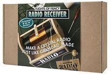Flights of Fancy Crystal Radio Receiver DIY Kit Science Education Gift
