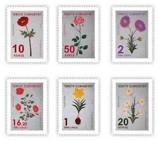 TURKEY 2019, FLOWERS (MARBLING) THEMED OFFICIAL POSTAGE STAMPS FREE SHIPPING MNH