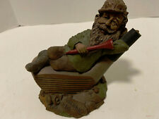 Vintage 1987 Tom Clark Mulligan Signed & Dated Gnome relaxing on Golf Drv Club