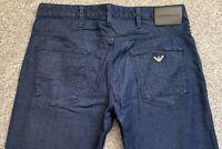 NWOT Emporio Armani EA J06 Slim Fit Mens Blue Denim Jeans | 32W 30L