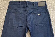 NWOT Emporio Armani EA J06 Slim Fit Mens Blue Denim Jeans | 32W 30L