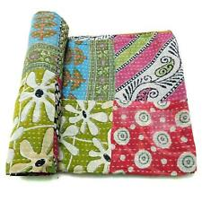 patchwork Kantha Quilt Handmade Cotton Bedspread Gypsy Throw Bedding Cover PB40