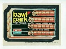 1975 Topps Wacky Packages 15th Series 15 BAWL PARK FRANKS nm