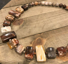 """JAY KING Petrified Wood 21""""-24"""" Necklace, Sterling Silver"""