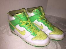 super popular d77cf 39b1c Nike Dunk High 309432-171 VP 2007 Mens Basketball Shoes GreenWhite Size 10