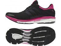 Adidas Supernova Women's Glide 8 Boost Running Shoes Trainers Black UK3.5 - UK 4