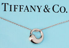 Tiffany & Co Sterling Silver Elsa Peretti Eternal Circle 14mm Pendant Necklace