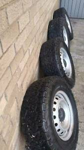 All terrain tyres and rims