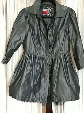 Anthropologie forever 21 black peplum long jacket l nowt $109