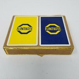 Vtg NOS Flintkote Asbestos Playing Cards Velvet Tile-Tex Division Advertising