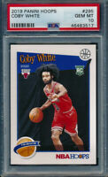 2019 Panini Nba Hoops Coby White Rookie Card RC PSA 10 Gem Mint Chicago Bulls 🔥