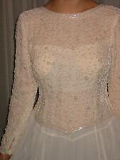 Brautkleid Festkleid Abendkleid Gr. 38/M, Nostalgie-Vintage-Stil, Chiffon Perlen