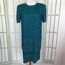 Laurence Kazar Full Sequins 2 Layer Tunic Trophy Dress Size Large Knee Length