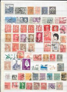 AMERIQUE DU SUD - 121 timbres  oblitérés    - 74/9