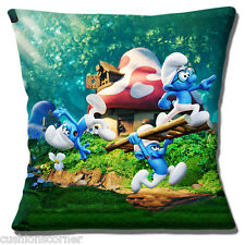 "THE SMURFS CARTOON FILM CHARACTERS MULTICOLOUR PRINT 16"" Pillow Cushion Cover"