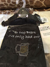 """""""In dog beers I've only had one"""" black dog T-Shirt size LARGE - Doggie design"""