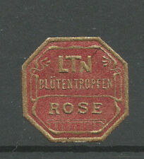 LTN Rose advertising label (German text)