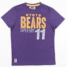Superdry KYOTO BEARS Top Team Tee Purple & Gold Adult Large
