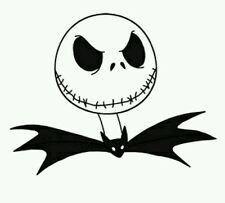 Nightmare before christmas car decal Jack Skellington Love window decal