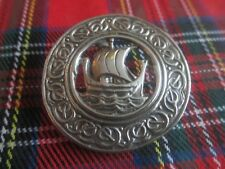 LARGE SOLID STERLING SILVER 925 CELTIC SCOTTISH VIKING BROOCH BY ROBERT ALLISON