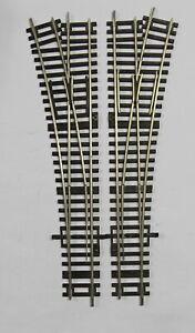 Roco Spur H0 zwei Handweichen WR 15 (1 Paar) neusilber, in gutem Zustand
