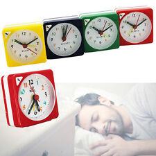 Mini Alarm Clock Analogue Quartz Travel Portable Desk Decor With Snooze & LED