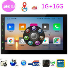 """7"""" inch Double 2 DIN Car MP5 Player Bluetooth Stereo Radio GPS Navi Android 10.0"""