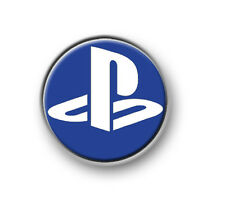 "PLAYSTATION SYMBOL 1"" / 25mm pin button / badge / gaming / console / logo / XBOX"