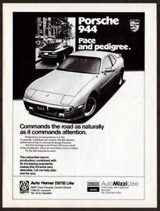 1983 PORSCHE 944 Vintage Original Print AD - White car art English Canada Harmer