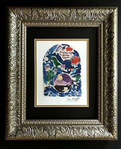 MARC CHAGALL + 1967 SIGNED WINDOW OF SIMEON PRINT MATTED 11X14 #1