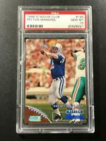 PEYTON MANNING 1998 TOPPS STADIUM CLUB #195 ROOKIE RC PSA 10 COLTS NFL HOF (A)