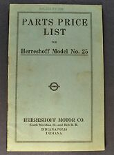 1911-1912 Herreshoff Model 25 Parts Price List Nice Original