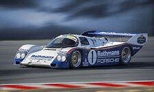 1986 Porsche 962 Can-Am IMSA  Vintage Classic Race Car Photo CA-1051